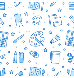 Stationery background school tools seamless vector