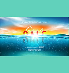 Summer sale background template vector