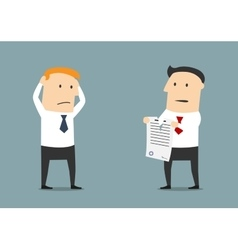 Termination of business contract or partnership vector