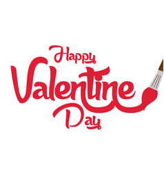 Valentine day brushes image vector