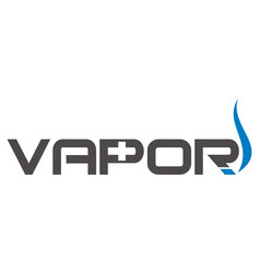 Vapor logo design template vector