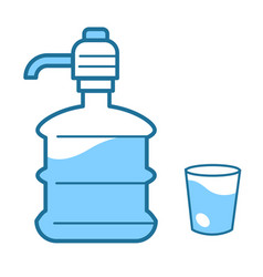 Water delivery service clean liquid in bottle and vector