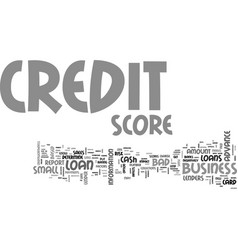 What goes behind your credit score text word vector