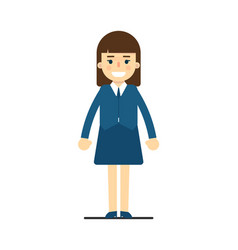 young elegant woman in blue suit vector image