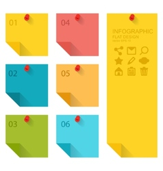 Flat design of infographics elements colorful vector image