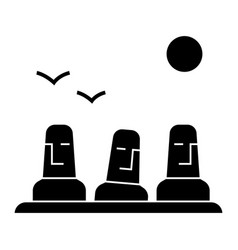 Monolith megalith easter land icon vector