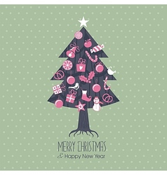 Assorted Christmas Tree vector image vector image