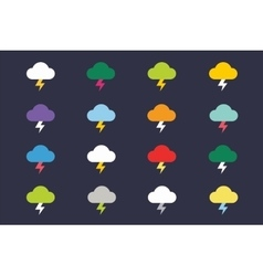 Attention warning cloud sign icons set vector image vector image