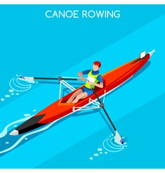 Canoe Rowing Single 2016 Summer Games 3D vector image vector image
