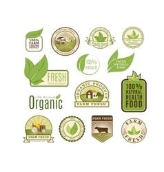 Eco badge organic food vector image vector image