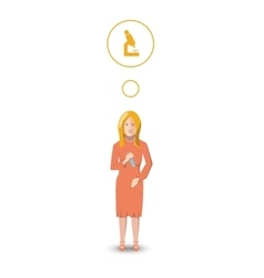 Flat character biologist with profession icon vector image vector image