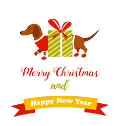 holiday dog perfect for the year of dog 2018 vector image vector image