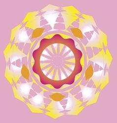 lotus sun poster vector image vector image