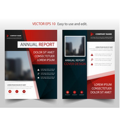 red black abstract annual report brochure design vector image vector image
