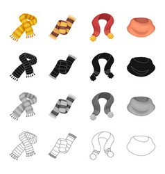 scarf accessories clothing and other web icon in vector image vector image