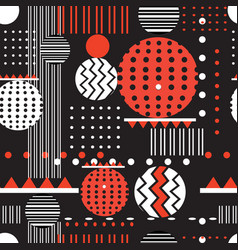 seamless geometric graphic pattern vector image vector image
