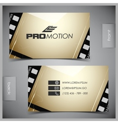 set of creative business cards film vector image vector image