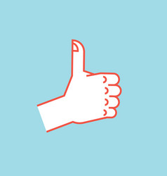 gesture like sign stylized hand with thumbs up vector image vector image