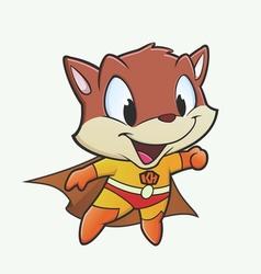 Kitten superhero vector