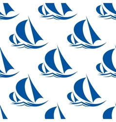 Racing yachts seamless pattern vector image vector image