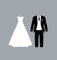 wedding people vector image vector image