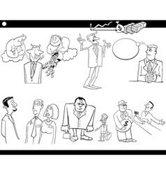 business cartoon concepts set vector image vector image