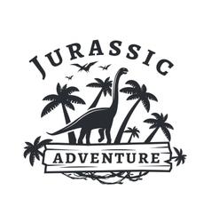 dinosaur logo concept Sauropod adventure vector image