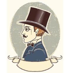 Elegant gentleman in a top black hat vector image vector image