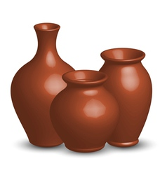 of vases vector image vector image