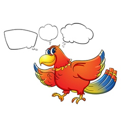 A colorful bird with empty callouts vector image vector image