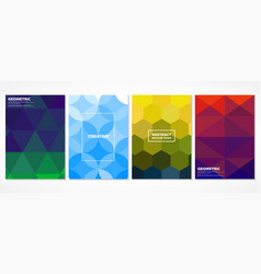 Abstract colorful minimal mosaic covers vector