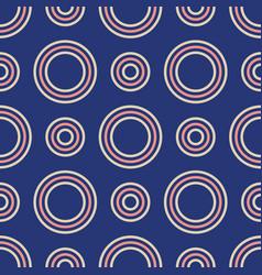 abstract seamless pattern color circles vector image