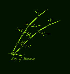 bamboo hand drawn vector image