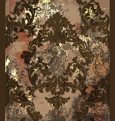 Baroque pattern background ornamented vector