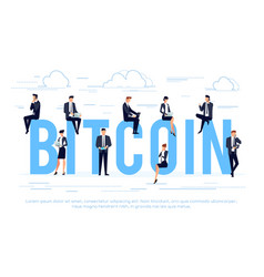 bitcoin business concept in a flat style vector image