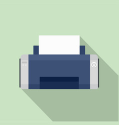 black ink printer icon flat style vector image
