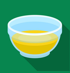 Bowl of oilolives single icon in flat style vector