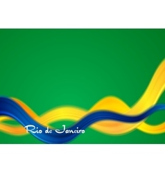 Brazil colors abstract smooth wavy vector image
