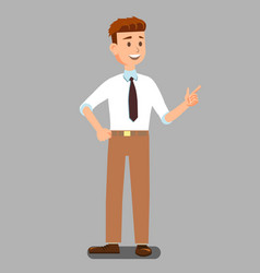 Business man or lecturer in official clothes vector