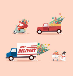christmas delivery concept vector image