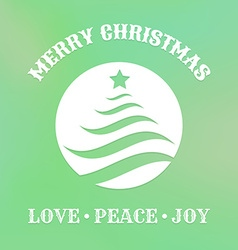 christmas label with tree vector image