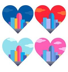 City of heart vector