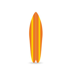 classic surfboard colorful fish board with shadow vector image