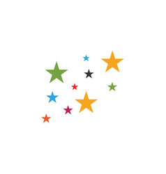 colorful stars icon graphic design template vector image