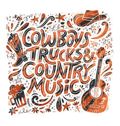 country music festival retro poster vector image