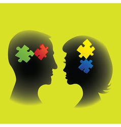 Couple puzzle vector