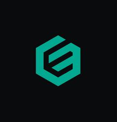 Creative letter e logo concept design with hexagon vector