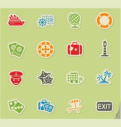 Cruise icon set vector