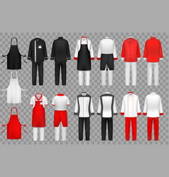 Culinary clothing chef uniform kitchen textile vector