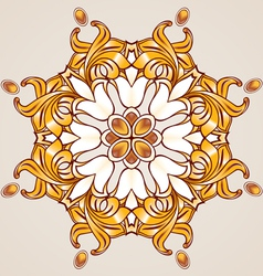 Floral pattern in golden shades vector